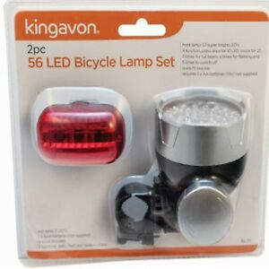 Image Is Loading 2PC Bright 56 LED Bike Bicycle Cycle Front
