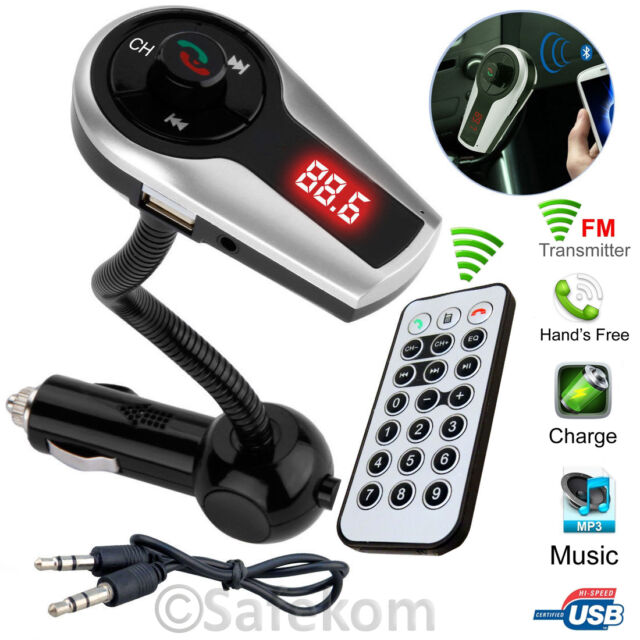 Wireless Bluetooth Car MP3 Player FM Radio Transmitter + USB Charger Remote Kit