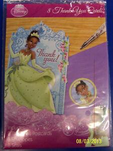 the princess the frog tiana disney kids birthday party thank you