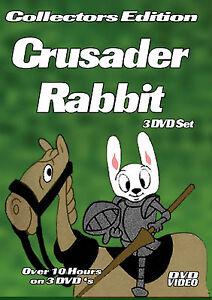 Crusader-Rabbit-3-DVD-R-Set-Over-10-Hours-with-DVD-Menus