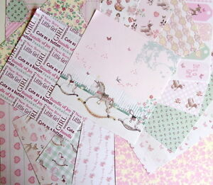 16-SHEETS-6x6-SCRAPBOOK-PAPER-ITS-A-GIRL-by-First-Edition-PAPERS-baby