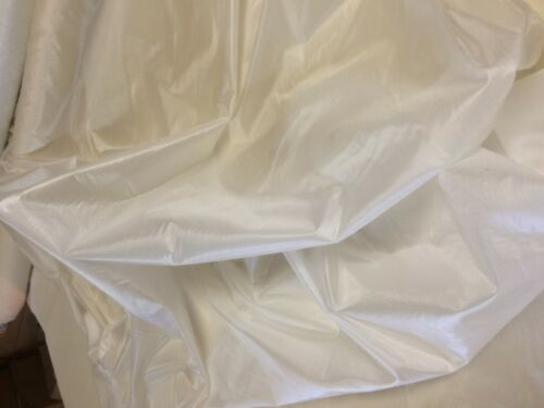 10 MTRS X 123cms white  army parachute ripstop nylon material lining FIRST GRADE