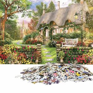 1000-Piece-Jigsaw-Puzzle-Angleterre-Cottage-paysages-Jouets-educatifs-Y5X8