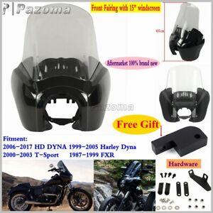 Moto-phare-avant-de-carenage-15-034-pare-brise-pour-Harley-Dyna-99-05-87-99-FXR