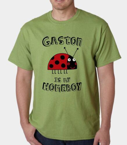 GASTON IS MY HOMEBOY t-shirt KIDS CHILDRENS TV BEN HOLLY LITTLE KINGDOM LADYBIRD