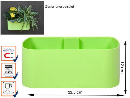 Dekorative Wandaufbewahrung Deko Kunststofftopf mit Magnet B 22 cm KalaMitica