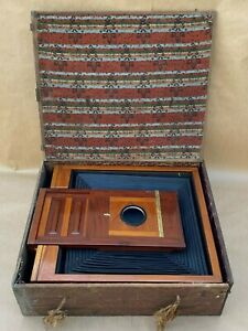 Antique-18x22-In-Very-Large-Dry-Plate-Wooden-Camera-amp-Film-Holder-11x14-amp-14x17