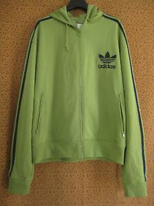 Veste Adidas à Capuche Originals vert Jacket Trefoil Homme style vintage - XL
