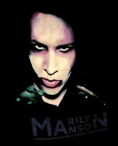 MARILYN-MANSON-cd-lgo-OVERSATURATED-MARILYN-FACE-Official-SHIRT-LRG-new