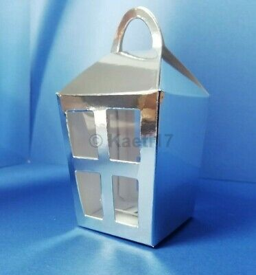 Tim holtz silver sizzix lantern favour box die cut kit+window inserts christmas