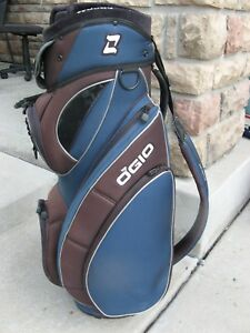 Details About Ogio Woode Club Management System Golf Cart Bag Blue Black 7 Way W Raincover