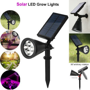Details About 16 Led Solar Plants Grow Light Garden Greenhouse Flower Vegetable Weed Bulb Lamp