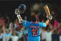 SACHIN TENDULKAR HAND SIGNED INDIA 12X8 PHOTO CRICKET LEGEND.