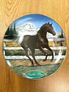 Danbury-Mint-Race-Horse-Collector-Plate-Seattle-Slew