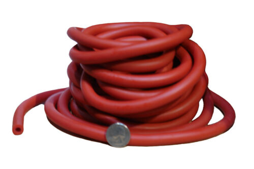 BAND EXERCISE TUBE 25 FEET LENGTH WORKOUTZ 25 FT BULK RESISTANCE TUBING RED