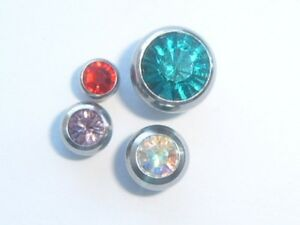 1-6mm-14ga-4mm-5mm-6mm-8mm-CRYSTAL-JEWELLED-SCREW-ON-BALL-FOR-STUD-BAR-LABRET
