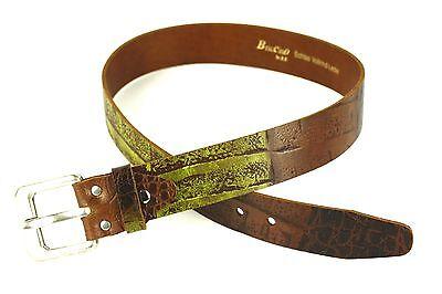 Capace G1-55 Da Donna In Vita Cintura Cintura In Pelle Spessa Marrone Krokolook Briccino 75-80 Cm-mostra Il Titolo Originale