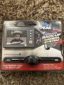 "Peak Digital Wireless Backup Camera - 3.5"" Color Monitor- Easy Install- NEW"