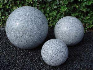 dekokugel granitkugel grau poliert 50 cm kugel gartenkugel gartendeko wohndeko ebay. Black Bedroom Furniture Sets. Home Design Ideas