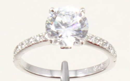 2.30TCW ROUND Brilliant Cut 14k Solid White Gold engagement /& Wedding Ring