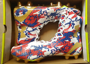 f98fc7a46ac Under Armour Mens Highlight MC Football Cleats USA CAMO metallic ...