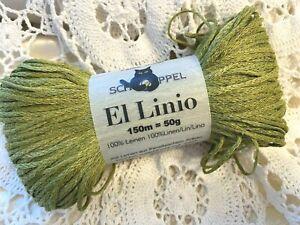Schoppel  El Linio 150 Meters Linen Moss Green Yarn