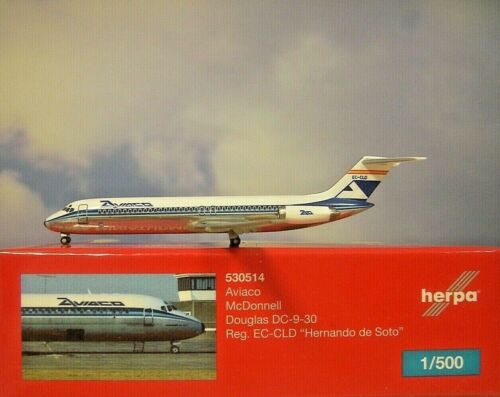 Herpa Wings 1:500  MD DC-9-30   Aviaco  EC-CLD  530514  Modellairport500