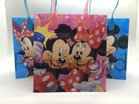 24 Disney Minnie & Mickey Mouse Loot/goody Bags Favor Gift Party Supplies