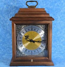 Hermle German Quartz Maple Bracket Mantel Clock- 2 Bell Bim-Bam Chime- 577-080