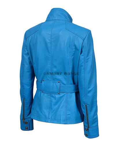 Blue 100 Leather Smart Rock Real Napa Military Ladies Jacket 1160 Collar Fit 8xqZdTwZEW