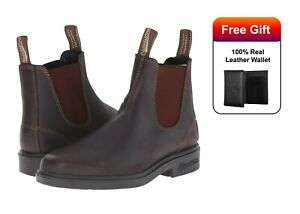 8bcc967d647 BLUNDSTONE 062 Chelsea Boots Stout Brown Premium Leather Non-Safety ...