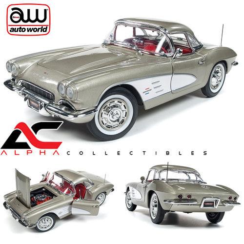 nuevo estilo Autoworld Autoworld Autoworld AMM1151 1 18 1961 Chevrolet Corvette Hardtop Fawn Beige mcacn  oferta de tienda