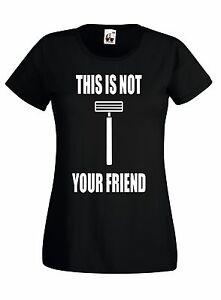 T-shirt Maglietta J661 This Is Not Your Friend Barba Beard Maglia in Cotone 100%