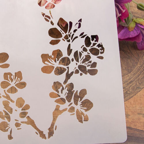 Reusable flowers Stencil Airbrush Art DIY Home Decor Scrapbooking Album Craft OD