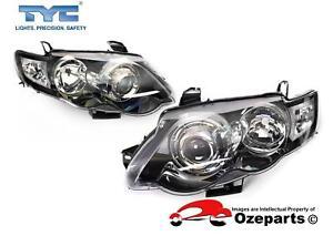 Set-Pair-LH-RH-Head-Light-For-Ford-Falcon-FG-Series-2-XR6-XR8-XR-Turbo-11-14