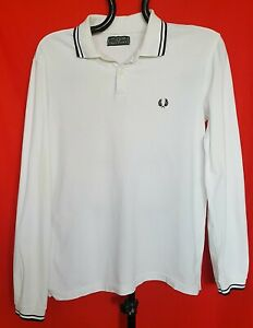 AUTHENTIC-FRED-PERRY-YELLOW-LOGO-WHITE-COTTON-MEN-039-S-POLO-SHIRT-SIZE-US-XXL-117