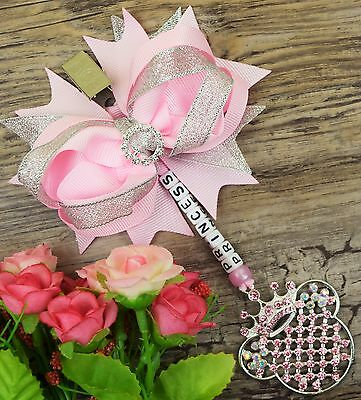 Personalised stunning pram charm in Hot pink for baby girls ideal gift