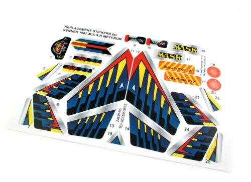 Stickers for KENNER M.A.S.K Meteor Stickers Personalized Very Nice!
