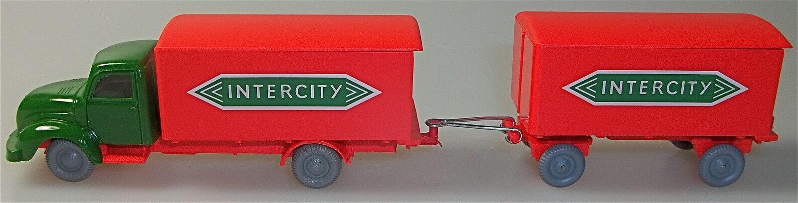 Intercity Magirus autour Hauber Hängerzug green red Imu H0 1 87 Å