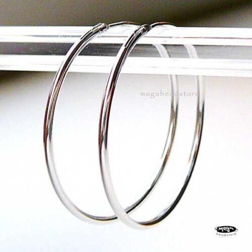 4 pcs Endless Hoop Solid 925 Sterling Silver Round Earrings F336