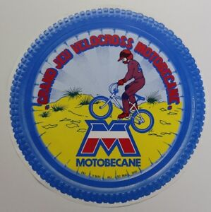 MOTOBECANE VELOCROSS BMX MX 41 20 30 31 32 Mobylette 1981 AFFICHE RONDE BIFACE