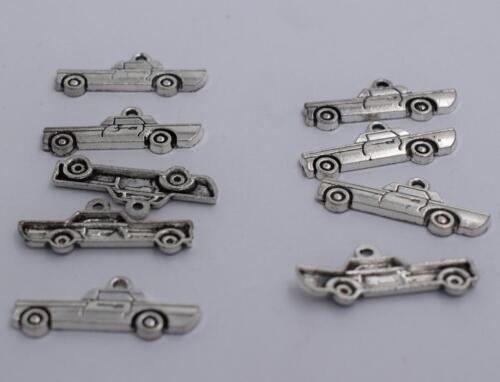 14pcs Antique silver plated nice little car charm pendant T0721