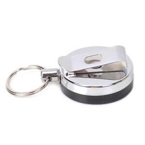 Yo Yo Key ring reel Pul Retractable Recoil Key Chain Belt Clip Badge ID Card