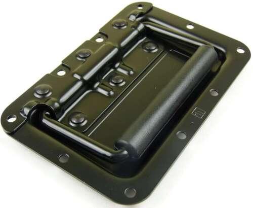 24 Klappgriffe 154x101 mm schwarz Kistengriffe Boxengriff Tragegriff Klappgriff