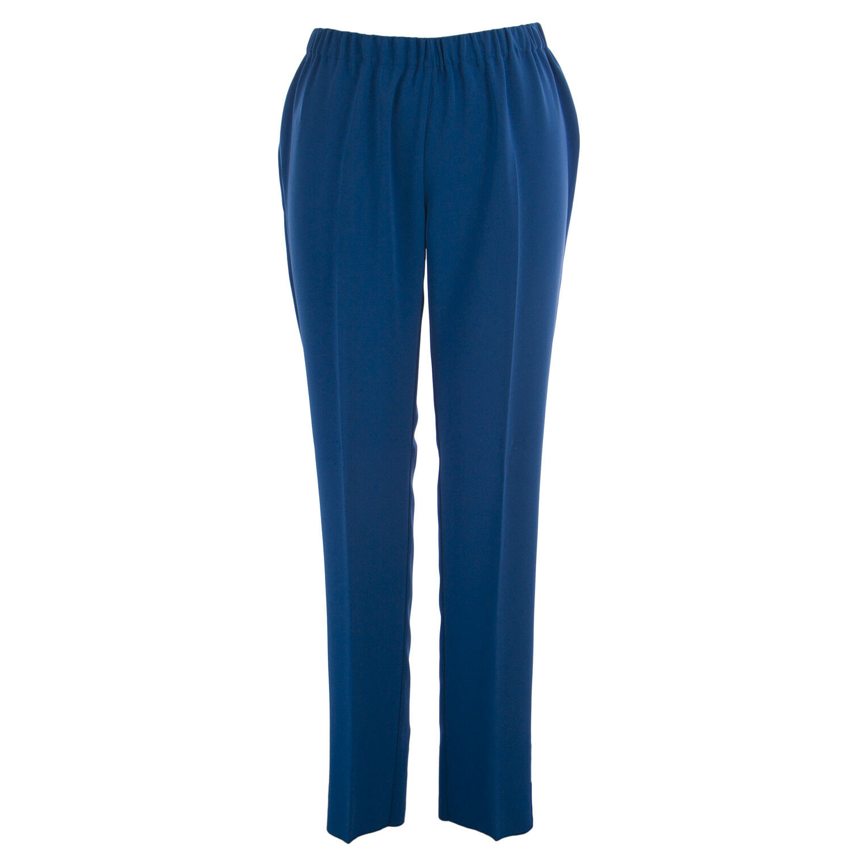 MARINA RINALDI Women's bluee Rapsodia Classical Dress Pants NWT