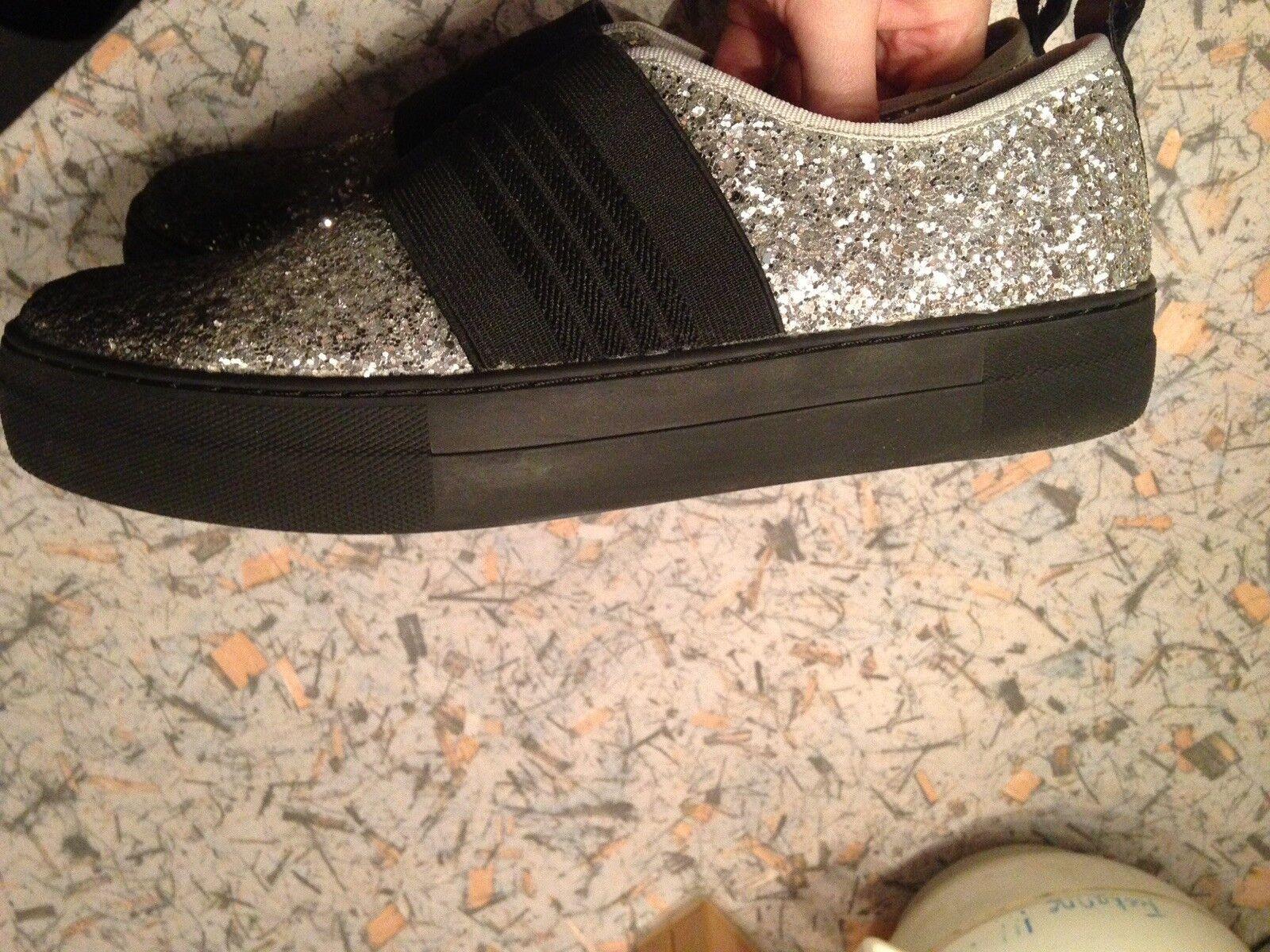 Sneaker EB By Miista 41 Ombre Schuhe Schwarz Glitzer Slipper
