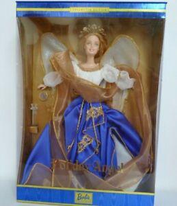 2000 Holiday Angel Collector Edition Blonde Barbie Doll Blue Dress MIB - NRFB !