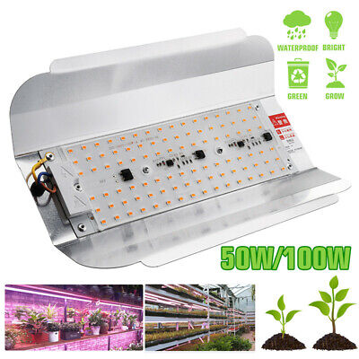 50W 100W Full Spectrum LED Grow Light Hydroponic Veg Flower Plant Grow Lamp IP65