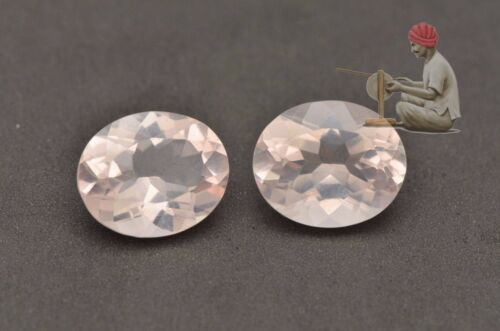 Natural Rose Quartz Oval 4x6mm to 18x13mm Faceted Cut Pink Color Loose Gemstone