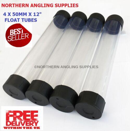 en Plastique Transparent Flotteur Tubes Longueur 12 in 30 cm environ 30.48 cm environ 5.08 cm avec Noir embouts Nas 2 in